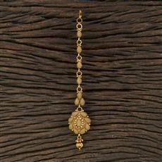 208709 Antique Plain Tikka With Gold Plating