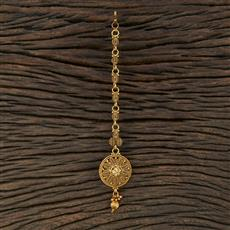 208710 Antique Plain Tikka With Gold Plating