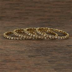 208713 Antique Delicate Bangles With Mehndi Plating