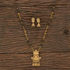 208728 Antique Classic Mangalsutra With Matte Gold Plating