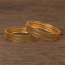 21079 Antique Openable Bangles With Gold Plating