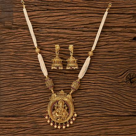 21124 Antique Temple Pendant set with gold plating