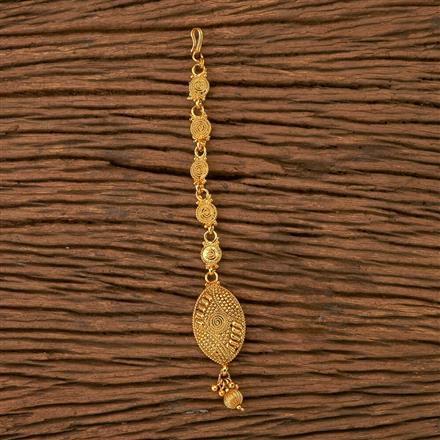 21138 Antique Plain Tikka with gold plating