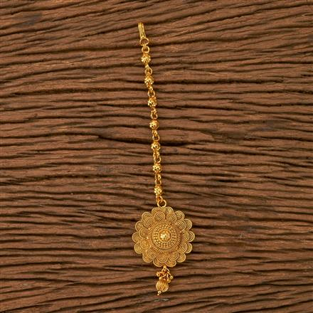 21142 Antique Plain Tikka with gold plating