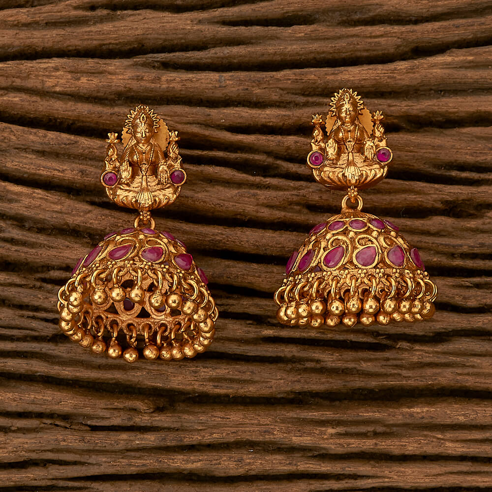 Purchase 21303 Antique Temple Earring with Matte gold
