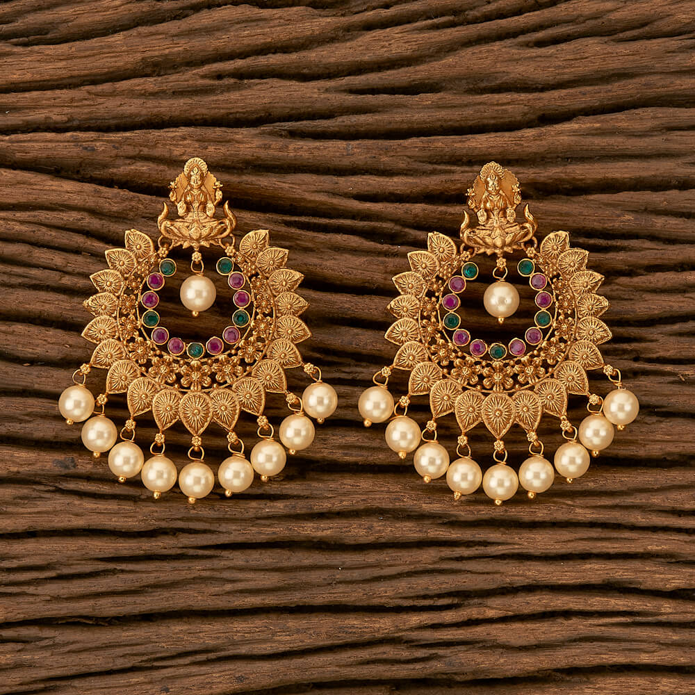 Purchase 21308 Antique Temple Earring with Matte gold