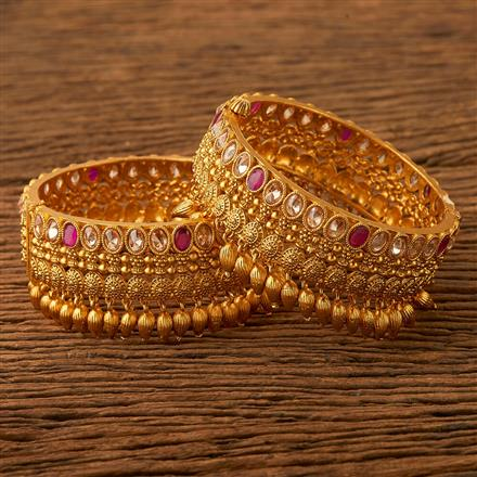 21639 Antique Classic Bangles with gold plating