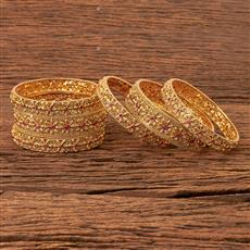 21802 Antique Classic Bangles with gold plating