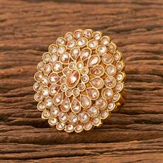 21821 Antique Classic Ring with gold plating