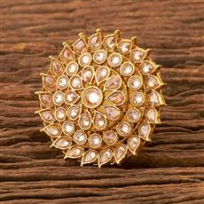 21822 Antique Classic Ring with gold plating