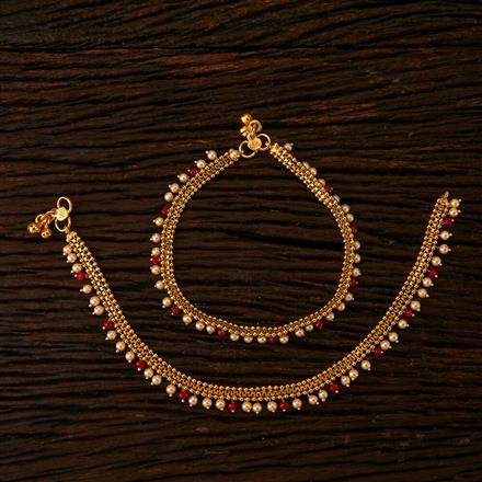 22020 Antique Delicate Payal with gold plating