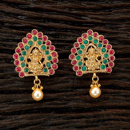 22171 Antique Temple Earring with gold plating