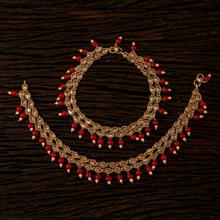 22332 Antique Classic Payal with gold plating