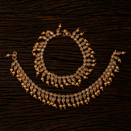 22333 Antique Classic Payal with gold plating
