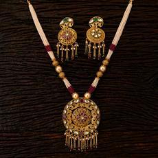 22392 Antique Mala Pendant set with gold plating