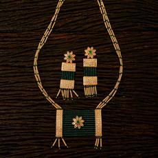 22424 Antique Mala Pendant set with gold plating