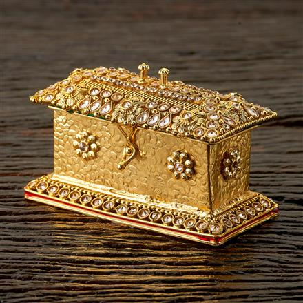 22565 Antique Classic Sindoor Box with gold plating