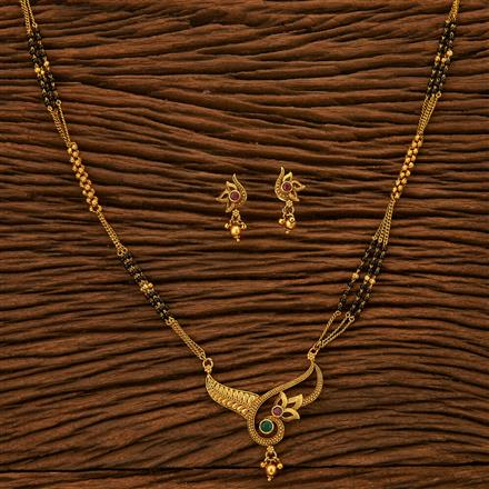 22846 Antique Classic Mangalsutra with gold plating