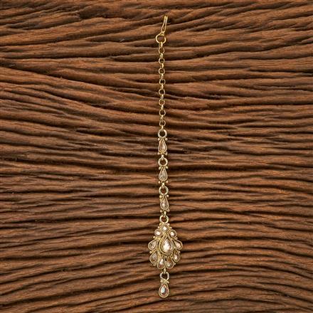 23005 Antique Delicate Tikka with mehndi plating