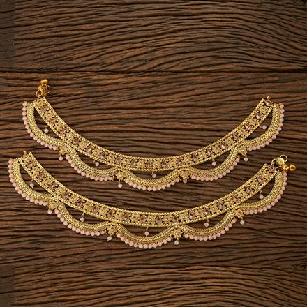 23298 Antique Classic Payal with gold plating