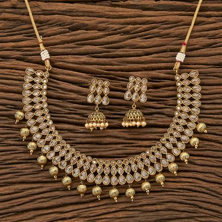 23699 Antique Classic Necklace with mehndi plating
