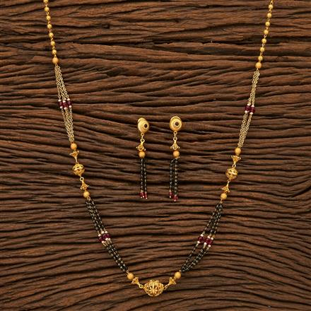 24012 Antique Classic Mangalsutra with gold plating