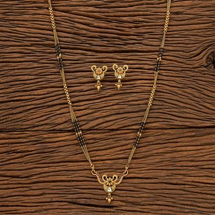 24043 Antique Classic Mangalsutra with gold plating
