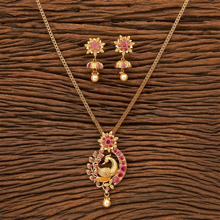 24160 Antique Peacock Pendant set with gold plating