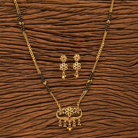 24215 Antique Classic Mangalsutra with gold plating