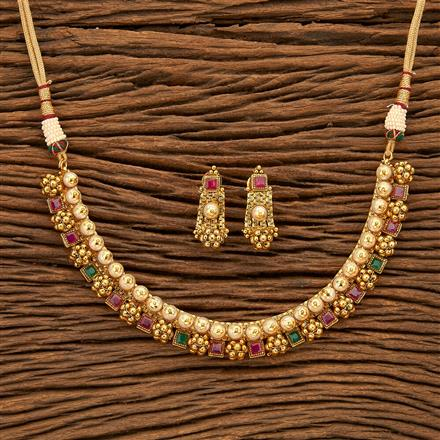 24300 Antique Classic Necklace with gold plating