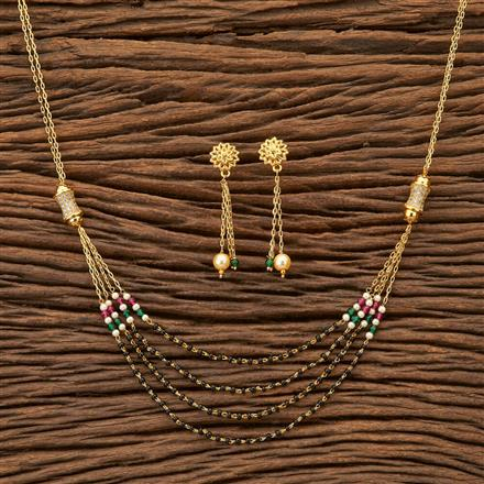 24313 Antique Classic Mangalsutra with gold plating