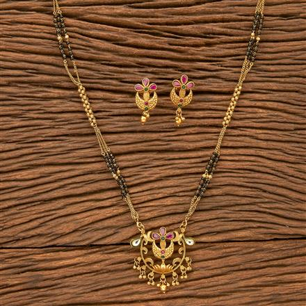 24341 Antique Classic Mangalsutra with gold plating