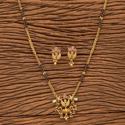 24343 Antique Classic Mangalsutra with gold plating