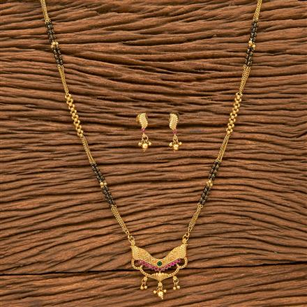 24344 Antique Classic Mangalsutra with gold plating