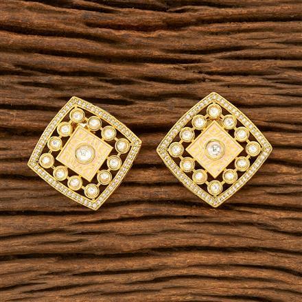 300035 Kundan Tops with gold plating