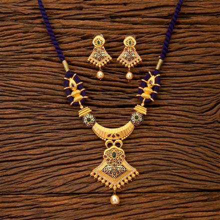 300236 Kundan Classic Necklace With Gold Plating