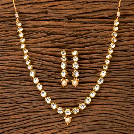 300237 Kundan Classic Necklace With Gold Plating