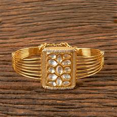300346 Kundan Classic Kada with Gold Plating