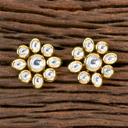 300355 Kundan Tops with Gold Plating