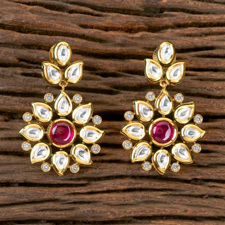 300356 Kundan Classic Earring with Gold Plating