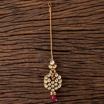 300449 Kundan Chand Tikka With Gold Plating