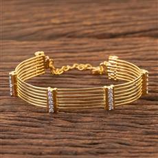 300512 Kundan Classic Kada With Gold Plating