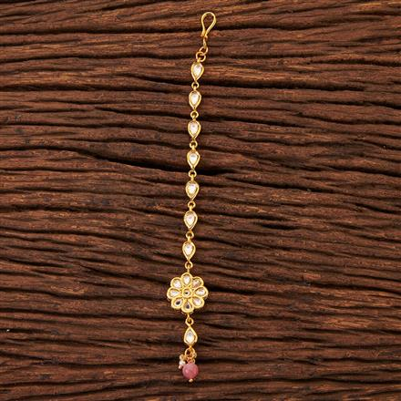 300517 Kundan Delicate Tikka With Gold Plating