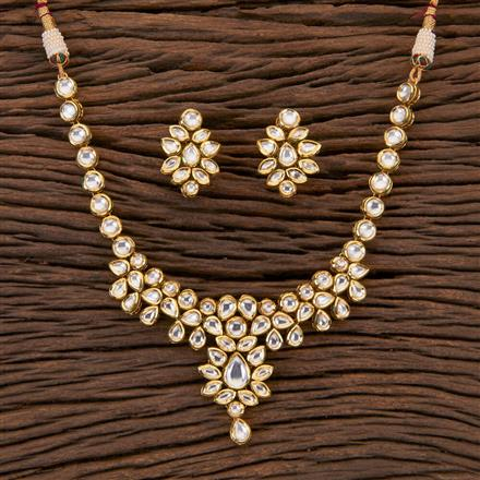 300550 Kundan Classic Necklace With Gold Plating