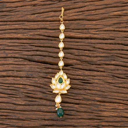 300579 Kundan Delicate Tikka With Gold Plating