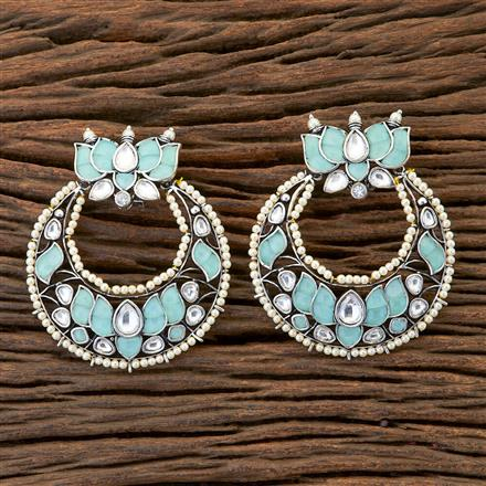 300612 Designer Chand Earring With Oxidised Plating