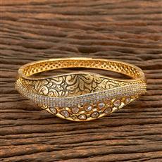 300678 Kundan Classic Kada with gold plating