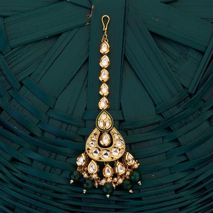 300690 Kundan Chand Tikka with gold plating