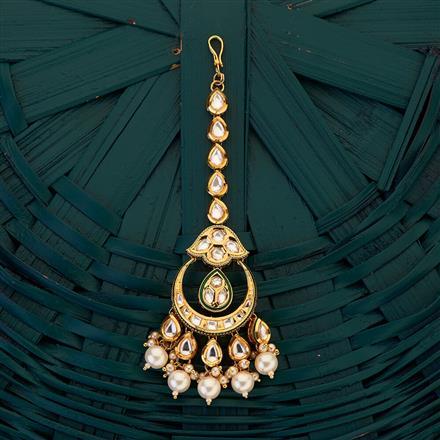 300691 Kundan Chand Tikka with gold plating
