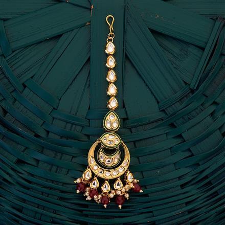300692 Kundan Chand Tikka with gold plating
